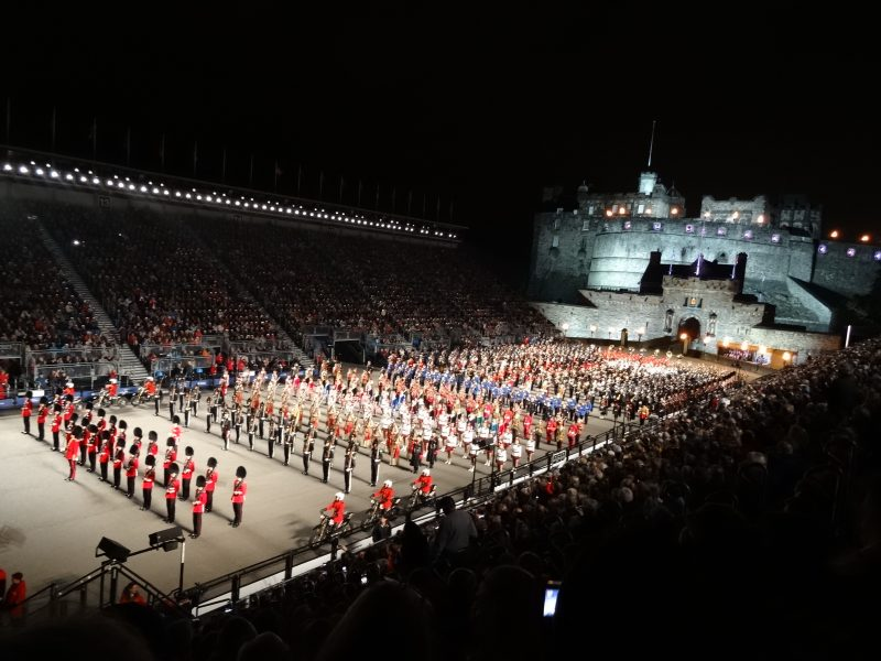 Grandios, das Edinburgh Military Tattoo.